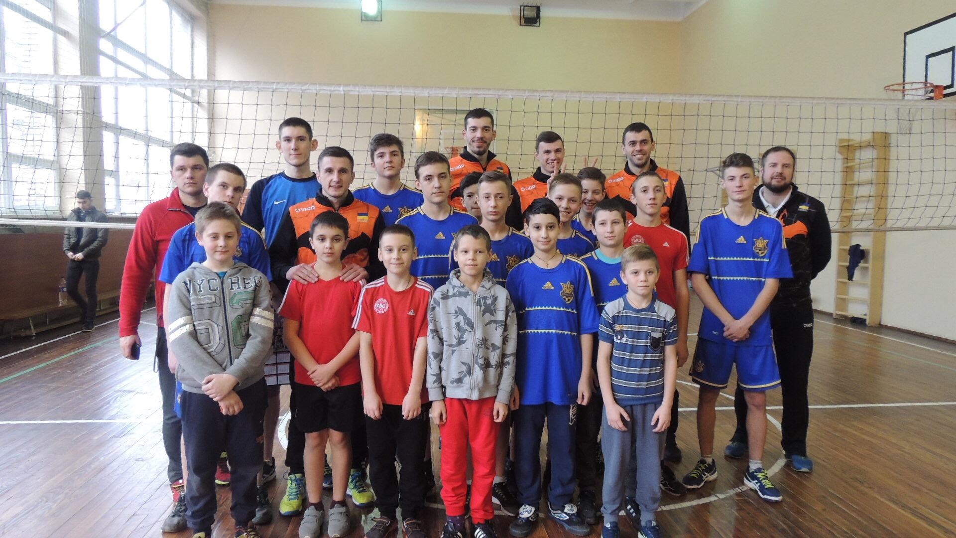 Львівські «кажани» провели волейбольний майстер-клас для школярів